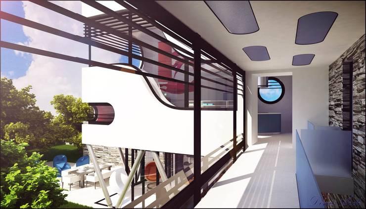 Ferrari: Ingresso & Corridoio in stile  di Denis Confalonieri - Interiors & Architecture