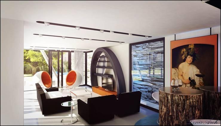 Ferrari: Soggiorno in stile  di Denis Confalonieri - Interiors & Architecture