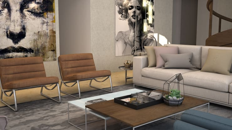 Living room by CONTRASTE INTERIOR, Modern