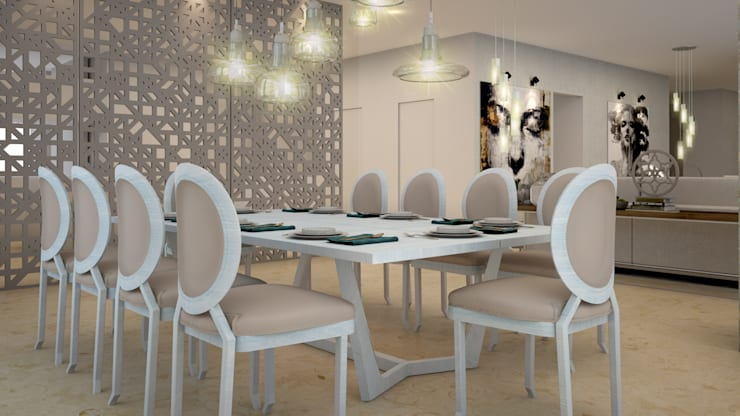 Dining room by CONTRASTE INTERIOR, Modern