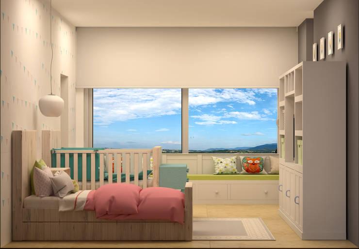 Nursery/kid's room by CONTRASTE INTERIOR, Modern
