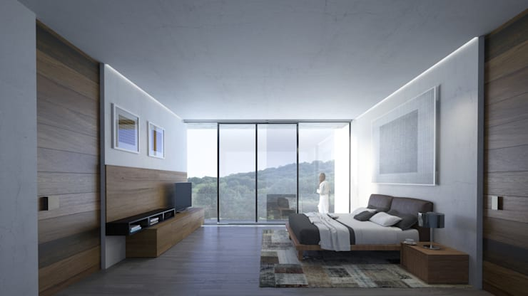 Recamara Principal Dormitorios de estilo moderno de HAC Arquitectura Moderno