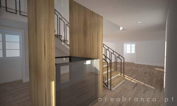 Hall Entrada   Escadas   Elevador : Corredores e halls de entrada  por Areabranca