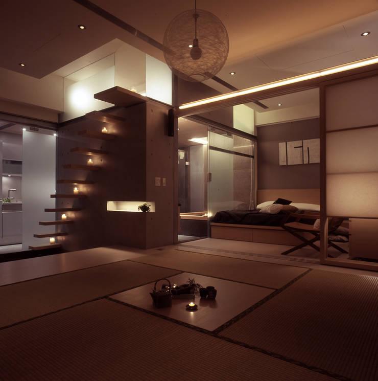 住宅(場域 ●界定):  客廳 by 鼎爵室內裝修設計工程有限公司