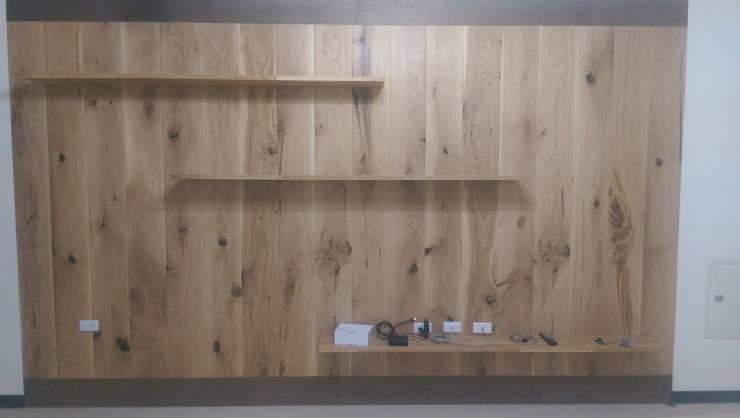 法國橡木地板轉化牆板:  牆壁與地板 by ModernTree flooring co.,Ltd