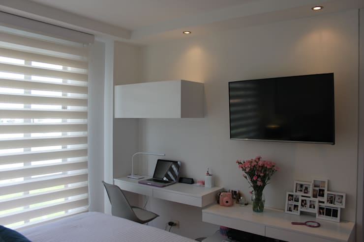 Habitación Daniela: Recámaras de estilo moderno por Home Reface - Diseño Interior CDMX