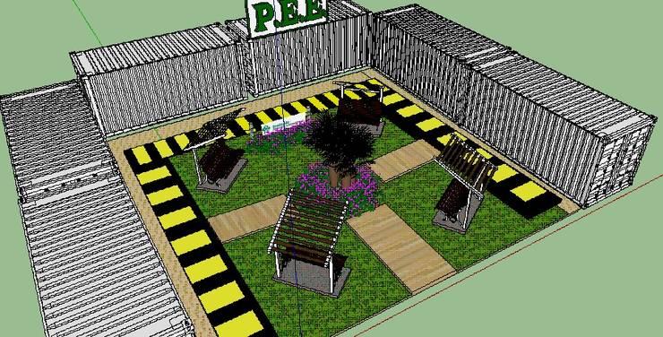 DISEÑO 3D PLAZA:  de estilo  por Mettox construcciones