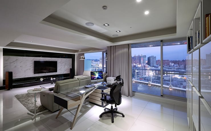 Glocal Architecture Office (G.A.O) 吳宗憲建築師事務所/安藤國際室內裝修工程有限公司が手掛けた書斎