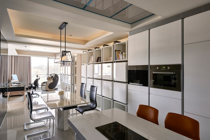 Cucina in stile  di Glocal Architecture Office (G.A.O) 吳宗憲建築師事務所/安藤國際室內裝修工程有限公司