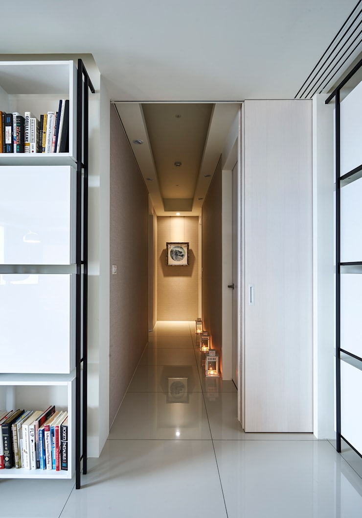 Corridor & hallway by Glocal Architecture Office (G.A.O) 吳宗憲建築師事務所/安藤國際室內裝修工程有限公司
