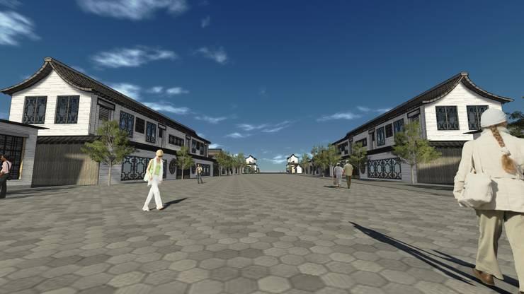 萬全右衛城:  商業空間 by Glocal Architecture Office (G.A.O) 吳宗憲建築師事務所/安藤國際室內裝修工程有限公司