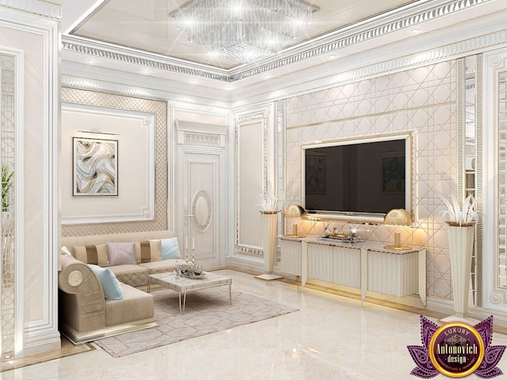 ​  Hospitality interior ideas of Katrina Antonovich:  Corridor & hallway by Luxury Antonovich Design, Classic