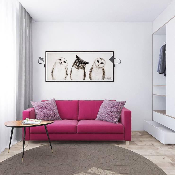 minimalistic Bedroom by Interior designers Pavel and Svetlana Alekseeva