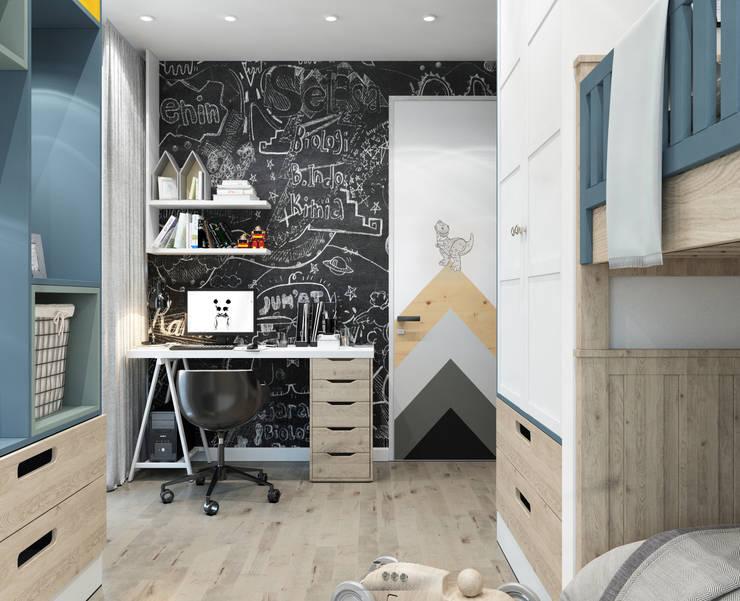 : Recámaras de estilo clásico por Interior designers Pavel and Svetlana Alekseeva