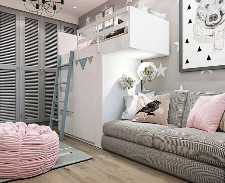 Cuartos infantiles de estilo  por Interior designers Pavel and Svetlana Alekseeva