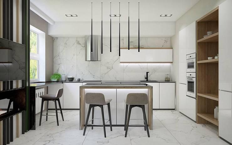 : Cocinas de estilo minimalista por Interior designers Pavel and Svetlana Alekseeva