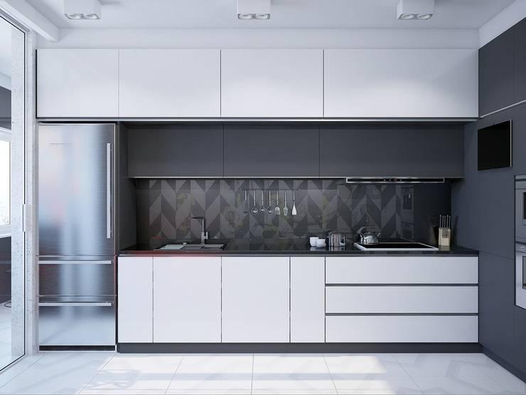 Cocinas de estilo minimalista por Interior designers Pavel and Svetlana Alekseeva