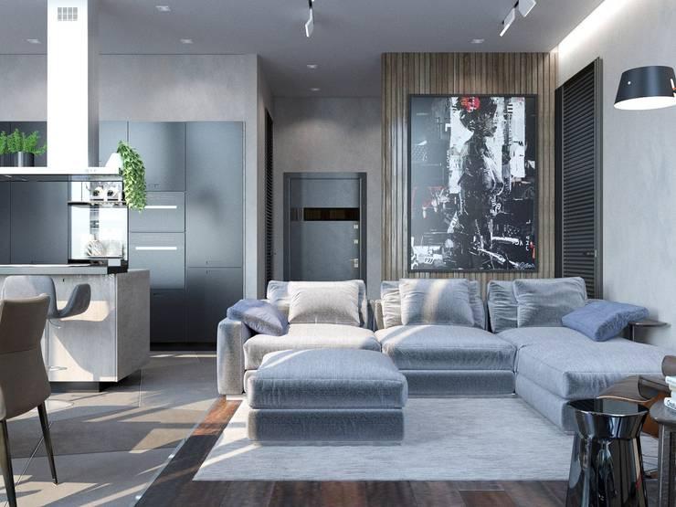 Living room by Interior designers Pavel and Svetlana Alekseeva