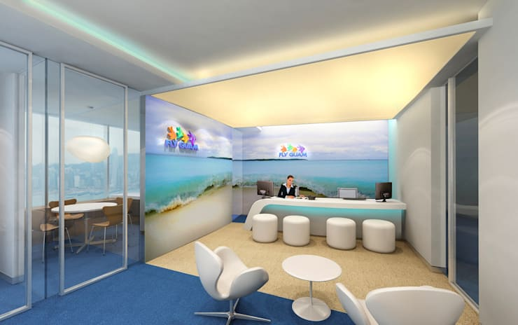 FLY GUAM HEADQUARTERS / OCEAN CENTRE—TST :  Offices & stores by M2A Design