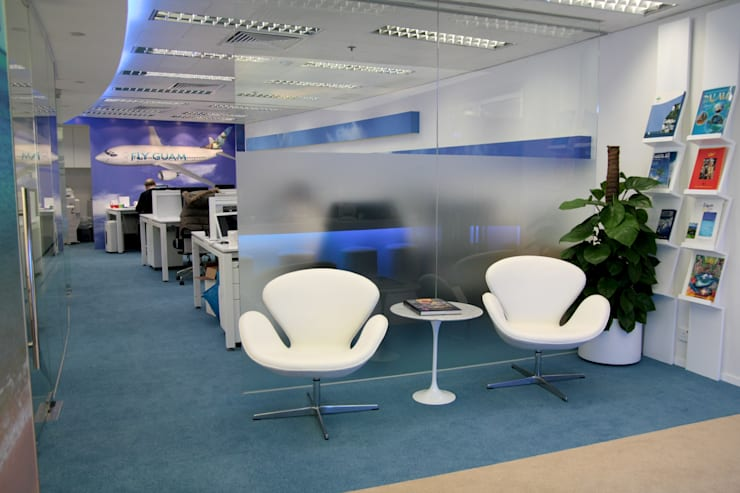 FLY GUAM HEADQUARTERS / OCEAN CENTRE—TST :  Office buildings by M2A Design