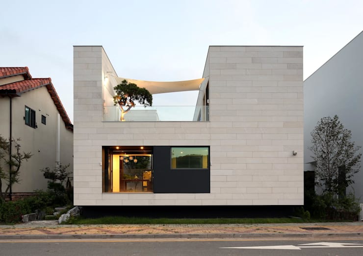 Projekty, nowoczesne Domy zaprojektowane przez 아키누스(건축동인) 건축사사무소