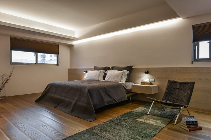 星鑽:  臥室 by 參與室內設計有限公司