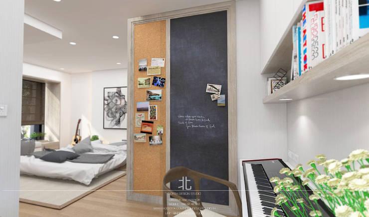غرفة نوم تنفيذ เหนือ ดีไซน์ สตูดิโอ (North Design Studio)