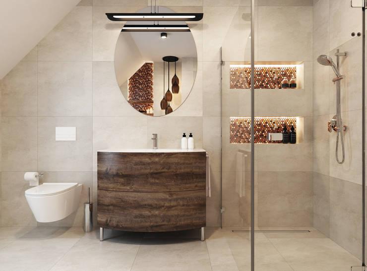 modern Bathroom by APP Proste Wnętrze Maria Podobińska-Tuleja