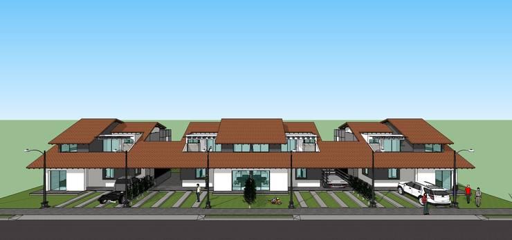 Fachada de conjunto: Casas de estilo  por MARATEA Estudio