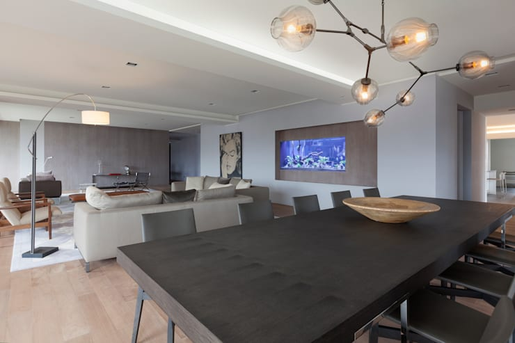 高宅 - Kao Residence:  餐廳 by  何侯設計   Ho + Hou Studio Architects