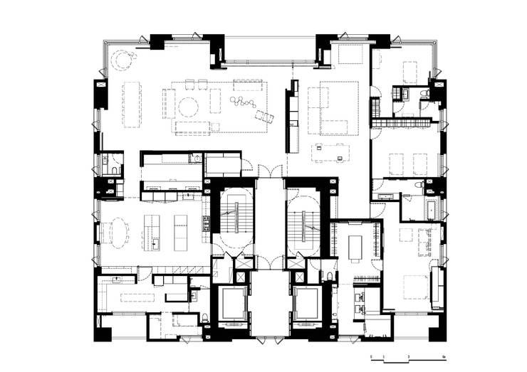 高宅 - Kao Residence:  牆面 by  何侯設計   Ho + Hou Studio Architects