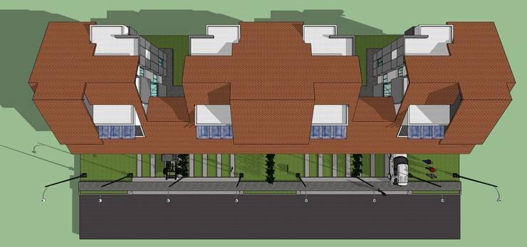 Planta de techos de conjunto: Casas de estilo  por MARATEA Estudio