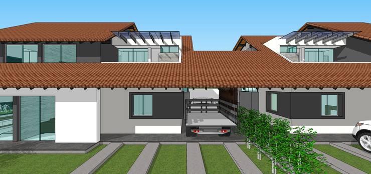 Fachada principal: Casas de estilo  por MARATEA Estudio