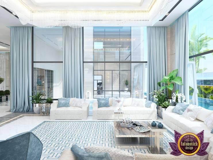   Modern Interior living room of Katrina Antonovich:  Living room by Luxury Antonovich Design