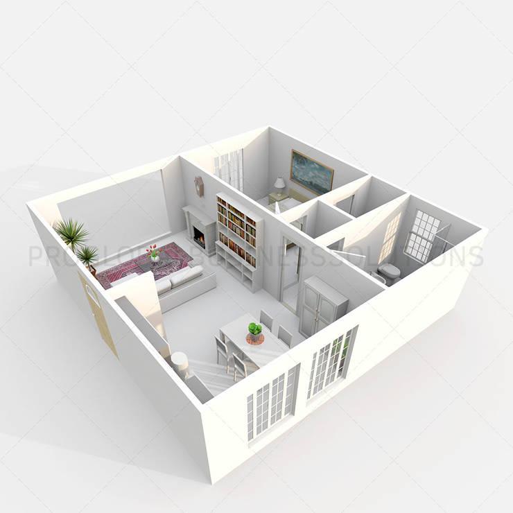 3D floor plan design:   by Proglobalbusinesssolutions