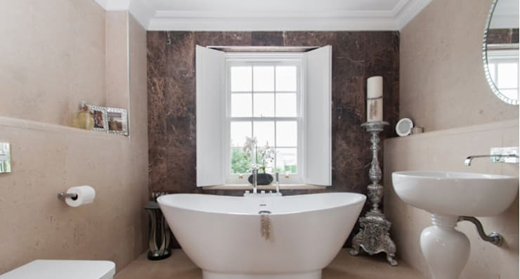 حمام تنفيذ Lincolnshire Limestone Flooring