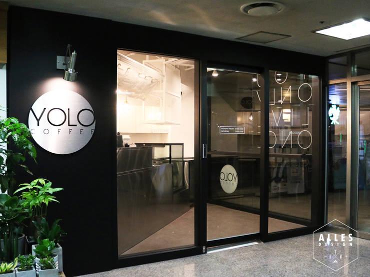 YOLO Coffee _ Facade: 디자인알레스의  상업 공간