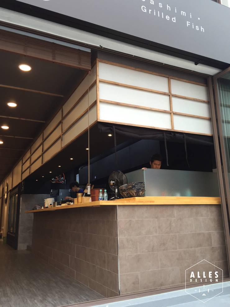 회롱회롱 _ Sushi bar: 디자인알레스의  상업 공간,