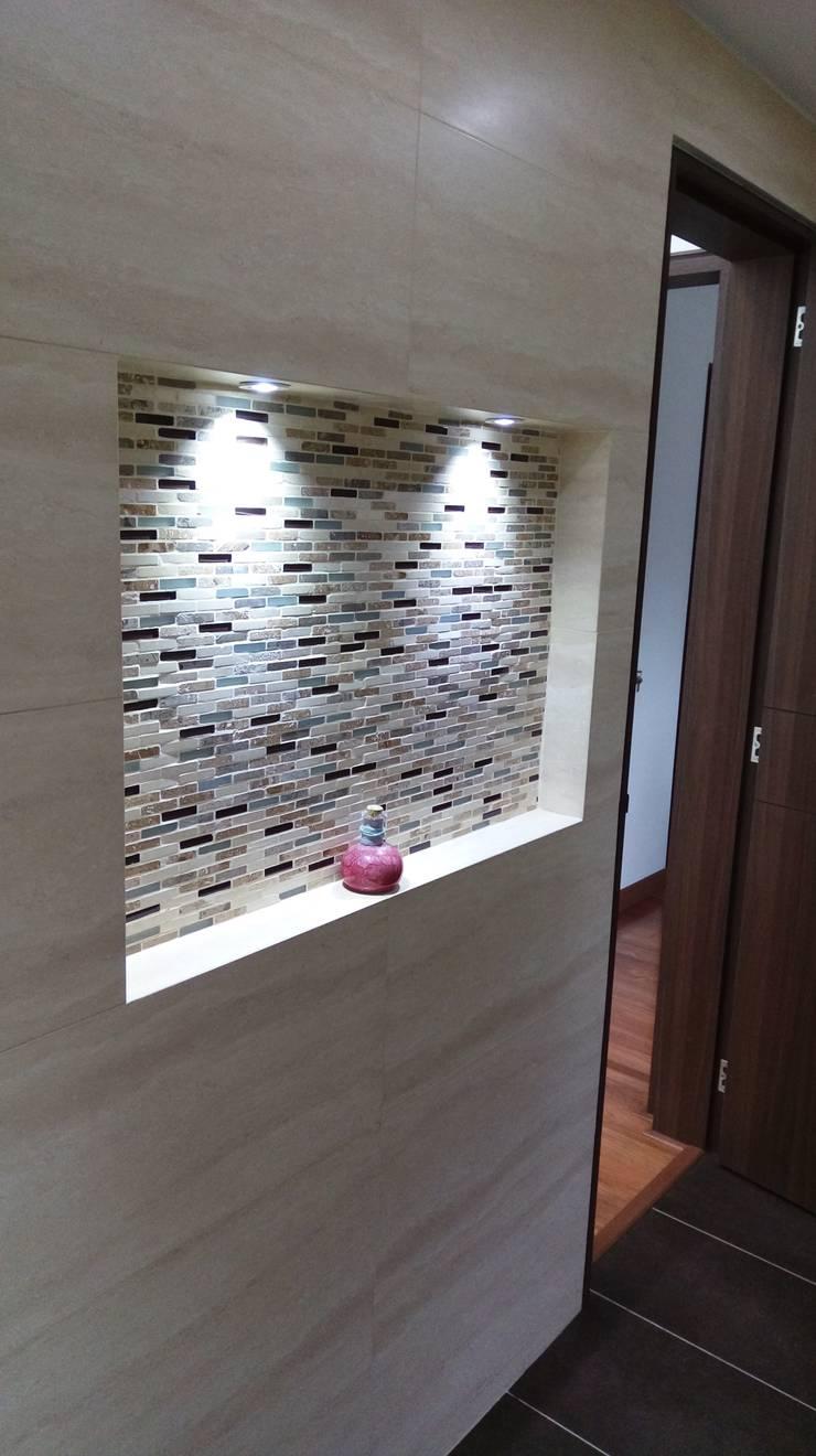 Simple y hermosa: Baños de estilo  por Erick Becerra Arquitecto, Moderno