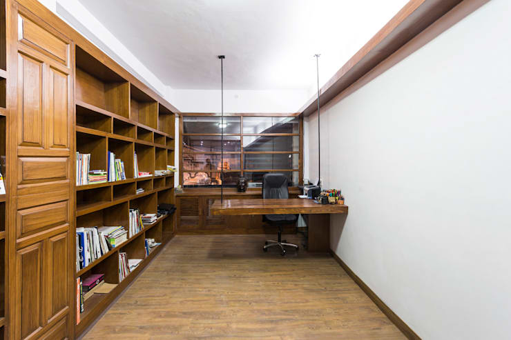 Architect's Studio, Rishikesh:  Offices & stores by Manuj Agarwal Architects,Modern