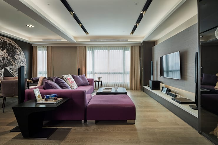 Living room by 舍子美學設計有限公司