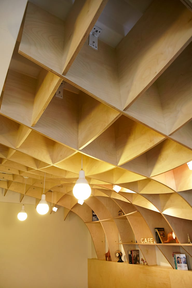 Cafe Marron: 유닛레스의  상업 공간,모던