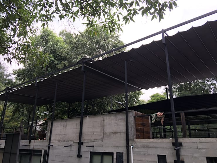 Casas de estilo moderno por Materia Viva S.A. de C.V.