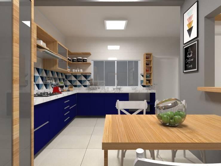 Cocinas de estilo rural de Atelie 3 Arquitetura Rural Tablero DM