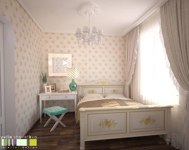 ФРАНЦУЗСКОЕ КАНТРИ: Спальни в . Автор – Мастерская интерьера Юлии Шевелевой
