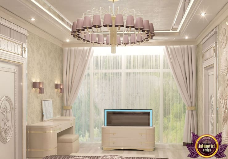   Stylish interiors bedrooms from Katrina Antonovich:  Bedroom by Luxury Antonovich Design
