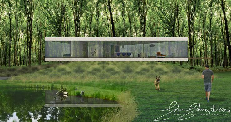 Aanzicht langszijde:  Huizen door Schneijderberg Architectuur & Design, Modern