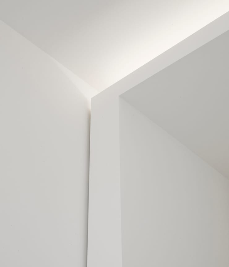 Light Detail:  Woonkamer door Jen Alkema architect, Minimalistisch
