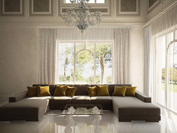 Гостиная, второй свет: Гостиная в . Автор – anydesign, Классический