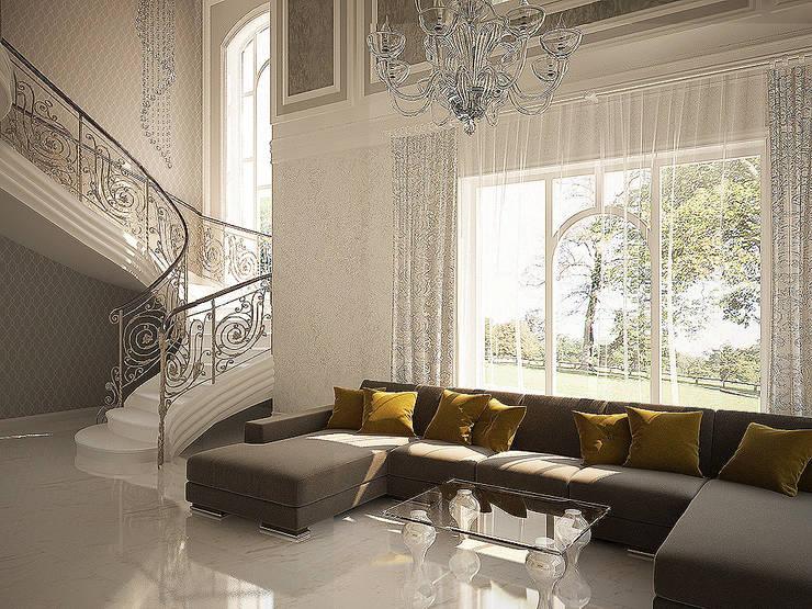 Второй свет: Гостиная в . Автор – anydesign, Классический